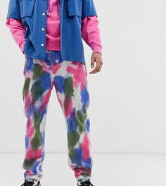 Джинсы с широкими штанинами и принтом тай-дай COLLUSION x007 - Розовый