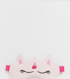 Маска для сна в виде единорога ASOS DESIGN - Розовый