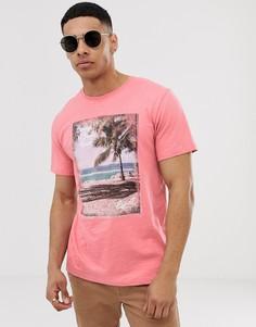Футболка с принтом Esprit beach - Розовый