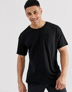 Черная свободная футболка Esprit - Черный