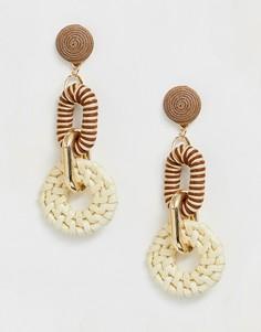 Серьги-кольца с подвесками ASOS DESIGN - Серебряный