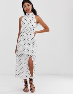 Платье макси с принтом и высоким воротом Glamorous - Черный