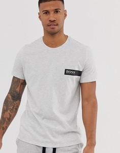 Серая футболка с логотипом BOSS - bodywear - Серый