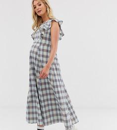 Платье макси в клетку с пышной юбкой Glamorous Bloom - Мульти