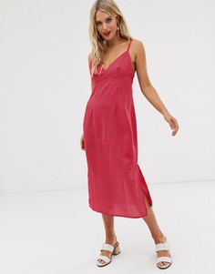 Платье миди на бретелях в горошек Glamorous - Розовый