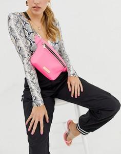 Неоново-розовая сумка на пояс River Island - Розовый
