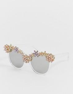 Оригинальные декорированные солнцезащитные очки в квадратной оправе ALDO - Очистить
