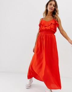 Красное платье макси с оборками Pimkie - Синий