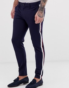 Строгие брюки с полосками по бокам Only & Sons - Темно-синий