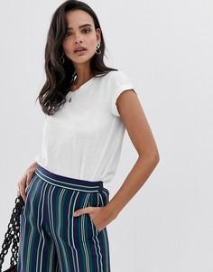 Белая oversize-футболка с удлиненным краем Esprit Organic - Белый