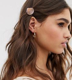 Розовые заколки для волос с блестками DesignB London - Розовый