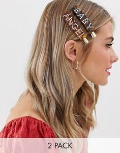 Заколки для волос со стразами Glamorous - Мульти