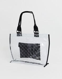 Прозрачная сумка-тоут с логотипом Superdry - Очистить