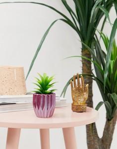 Горшок для цветов с искусственным растением Candlelight - Фиолетовый
