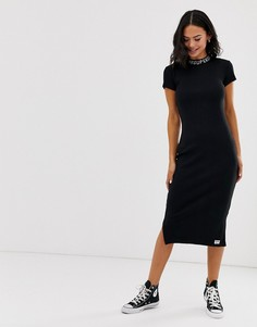 Платье-футболка с логотипом на вороте Superdry - Черный