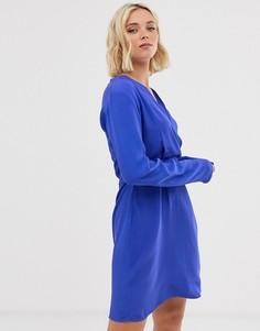 Платье с V-образным вырезом Pieces - Черный
