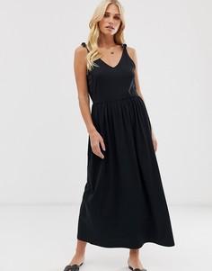 Платье макси на бретелях Vero Moda - Черный