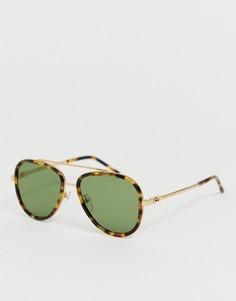 Солнцезащитные очки-авиаторы в черепаховой оправе Marc Jacobs - Мульти