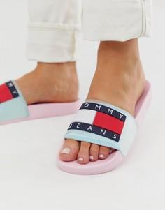 Шлепанцы с логотипом Tommy Jeans - Розовый