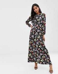 Чайное платье макси с цветочным принтом ASOS DESIGN - Мульти