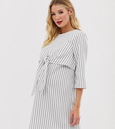 Платье мини в полоску с завязкой спереди ASOS DESIGN Maternity - Мульти