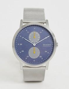 Многофункциональные часы с сетчатым браслетом Skagen - SKW6525 Kristoffer - Серебряный