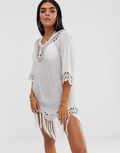Пляжное платье с кисточками South beach - Белый