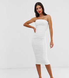 Белое платье-бандо миди Club L London Tall - Белый