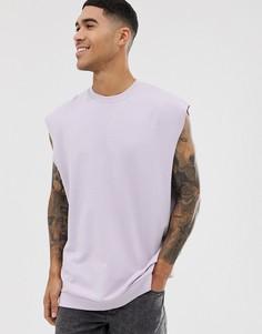 Сиреневый oversize-свитшот без рукавов ASOS DESIGN - Фиолетовый