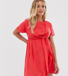 Платье мини с запахом ASOS DESIGN Maternity Nursing - Красный