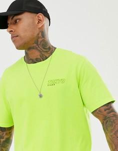 Неоново-желтая свободная футболка Bershka Join Life - Желтый