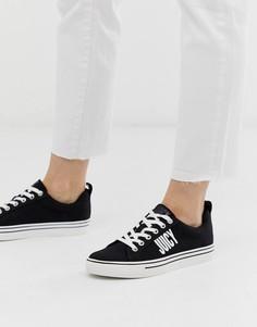 Черные кроссовки со шнуровкой и логотипом Juicy Couture - Черный