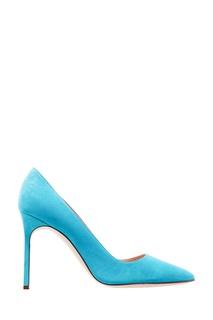 Голубые замшевые туфли BB Manolo Blahnik
