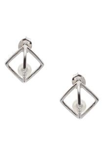 Серьги-гвоздики с геометрическим дизайном Exclaim
