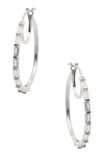 Серьги-кольца с отделкой Exclaim