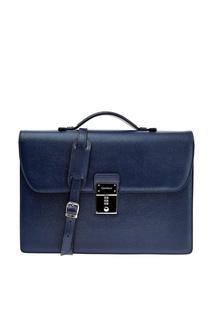 Синий портфель со съемным ремнем Canali