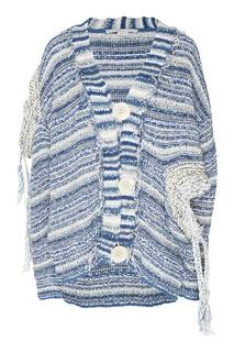 Серо-голубой кардиган в полоску Stella Mc Cartney