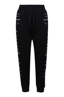 Черные брюки с нашивками Dolce&Gabbana Children