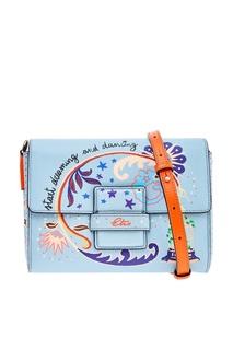 Голубая сумка с рисунком Etro