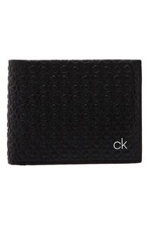 Черное портмоне с тиснением Calvin Klein