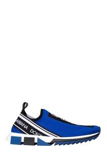 Синие кроссовки с эластичным верхом Dolce & Gabbana