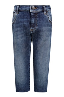 Синие джинсы с потертым эффектом Dolce&Gabbana Children