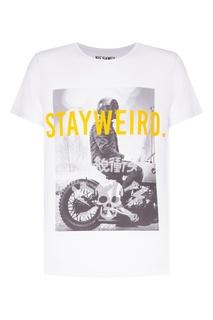 Белая футболка Gear с принтом и желтой надписью KO Samui