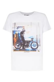 Белая футболка Custom с принтом KO Samui