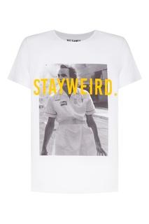Белая футболка Serious с принтом Джокера KO Samui