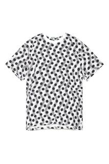 Черно-белая футболка с трикотажной горловиной Kenzo