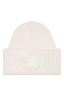 Молочно-белая шапка Pansy Face Acne Studios