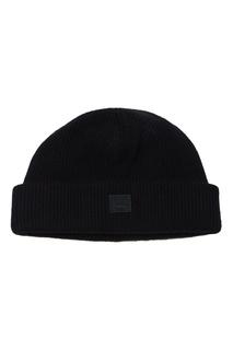 Черная шапка со смайлом Acne Studios