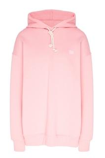 Розовое худи со смайлом Acne Studios