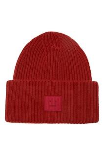 Красная шапка Pansy Face Acne Studios